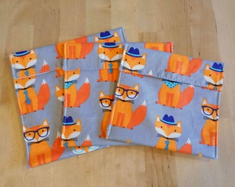 Mr. Fox reusable snack bags