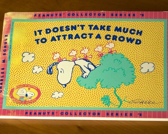 Vintage Peanuts Book: It Doesn't Take Much to Attract a Crowd, by Charles M. Schulz