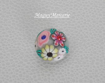 polymer clay and rhinestone bracelet for snap button