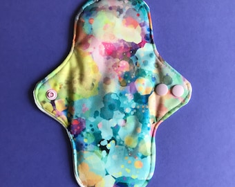 Small Cloth Pad Stainglassed Hippie