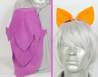 Scootaloo Adjustable Ears and/or Tail - buy as a set or separate! Sized for Kids or Adults