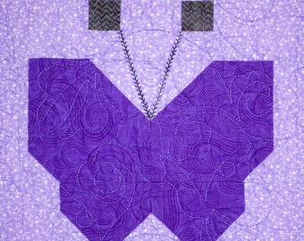 Butterfly Whimsy Patchwork Quilt Block Pattern