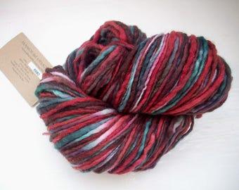 Destash Merino Manos del Uruguay burgundy red, teal, brown, 100g