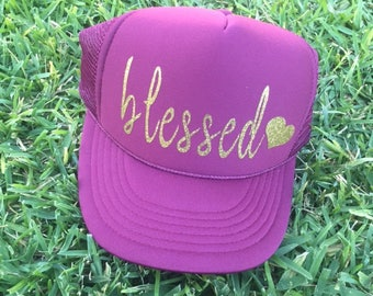 Blessed Trucker Hat | Mom Life Hat  | Christmas Gift  |  Mother's Day Gift  |  Gifts for Moms  |  Vacation Hat  | Trucker Hat