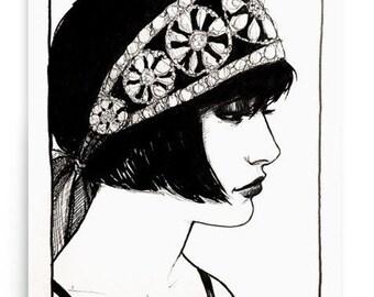 Rhinestones Print By Amy Abshier
