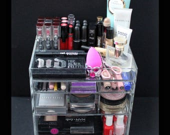 Clear Acrylic Makeup Organizer ChicBox Vanity Cosmetic Storage Beauty Drawer BeautyFill Box
