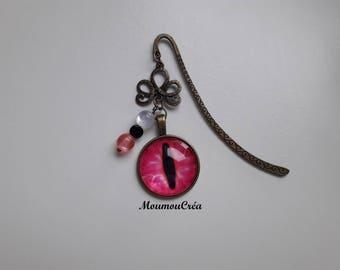 Bookmarks pink dragon eye