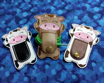 Cow Cord Keeper Wrap | Earbud Organizer | iPhone Cord Organizer | Charger Cord Keeper | Holder Organizer  |  Headphone Organizer | Gift