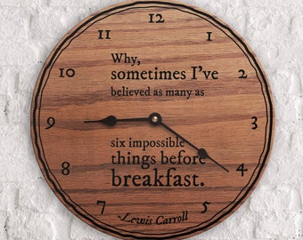 Impossible Quotes - Quotes on Impossible - Imagination Quotes - Kitchen Decor - Six Impossible Things Before Breakfast Quote - Lewis Carroll