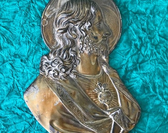 The Sacred Heart of Jesus in Brass