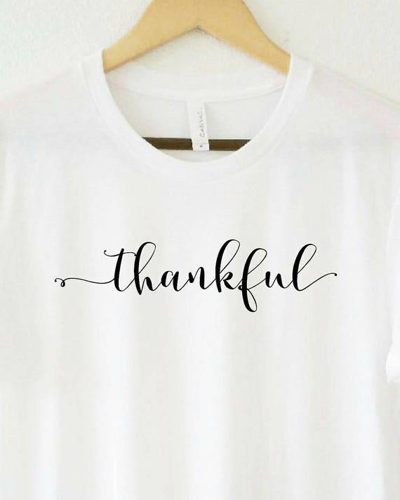 THANKFUL Tee, Thankful Tshirt, Thankful Tops, Thankful Tshirts, Thankful Tees, Thankful Shirts
