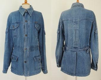 Cool 70s Fitted Mens Vintage Denim Jacket // HOPLA // Size 54