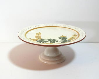 Stangl Pottery Golden Blossoms Cake Stand, Cake Plate, Footed Cake Plate
