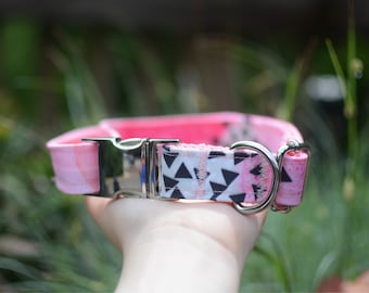 PREMIUM COLLECTION, Eco Canvas Collar, STRAWBERRY, Dog, Collar, Dog Collar, Waterproof, Buckle, Martingale