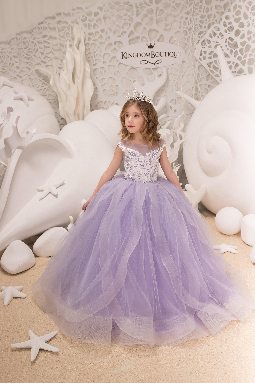 Lila Blume Mädchen Kleid Geburtstag Hochzeit Partei Urlaub