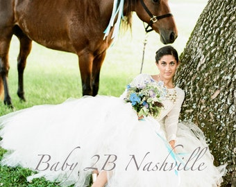 Tulle Skirt Ivory Skirt Wedding Skirt Tulle Wedding Dress Bridal Gown Bridesmaid Tutu Bridesmaid Tulle Skirt Adult Tulle Skirt Adult Tutu