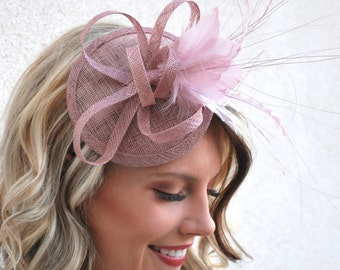 Heather Pink Fascinator, Tea Party Hat, Church Hat, Derby Hat, Fancy Hat, Pink Hat, Tea Party Hat, wedding hat