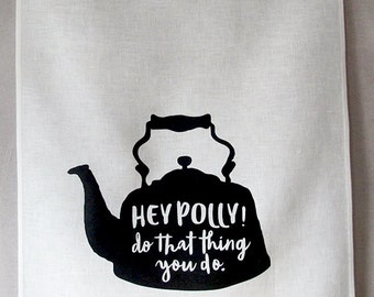 hey polly linen tea towel