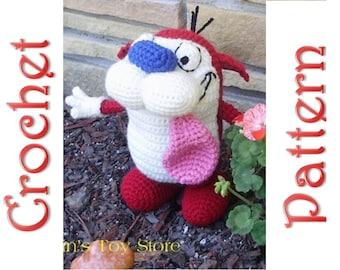 Stimpy a Crochet Pattern by Erin Scull
