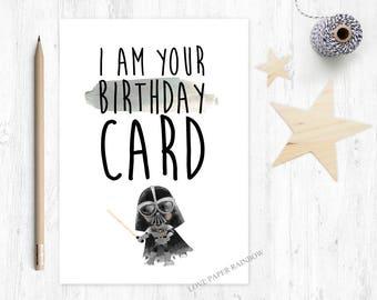 star wars birthday card, this is your birthday card, FUNNY birthday card, happy birthday, darth vader birthday card