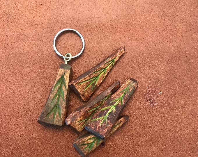 Keychain with a small spruce
