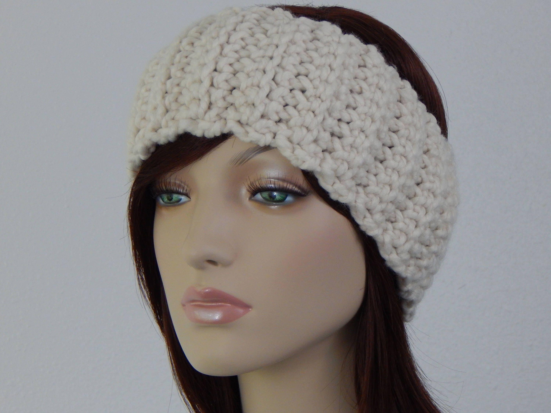 Crochet PATTERN PDF, The Lodge Band, Wide Ear Warmer Headbands ...