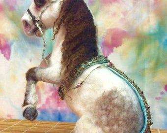 Horse Needle Felted custom horse circus horse