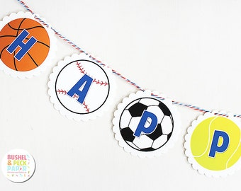 PRINTABLE Mini #Sports #Party #Banner - INSTANT DOWNLOAD