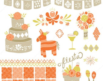 CLIP ART - Fiesta, Fiesta Wedding Set