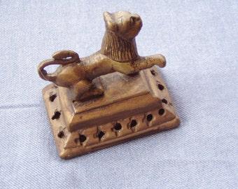 Vintage Indian Brass Tiger  foot massager