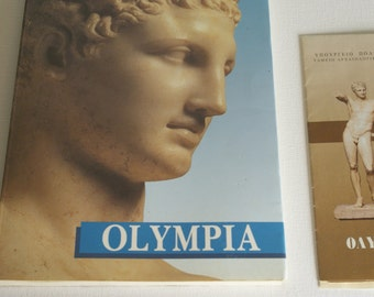 Olympia historical site brochure vintage, Athens, 1989