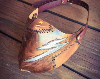 Airship Pirate Worn Leather Mask