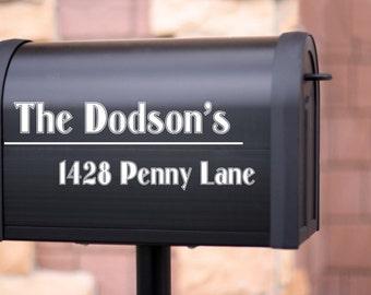 Custom Mail Box lettering
