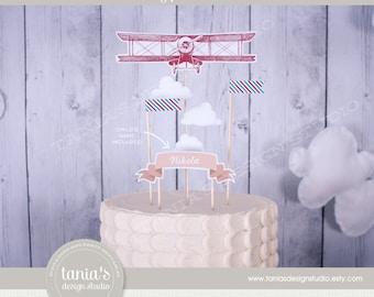 Time Flies - Birthday Cake Topper - First Birthday - Cake Centerpiece - by Tania's Design Studio