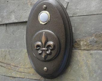 Fleur De Lis Doorbell Oil Rubbed Bronze
