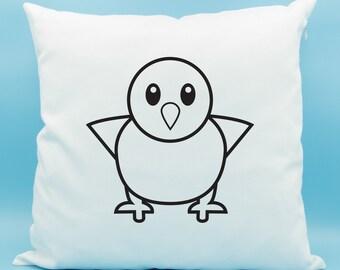 Baby Chick Emoji Pillow - Standing Chick Emoji Pillow - Front Facing Baby Chick Emoji Pillow - Baby Chicken Emoji Cushion - Baby Chick Emoji