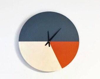 Wall Clock, Orange and Gray Home Decor, Decor and Housewares, Home and Living