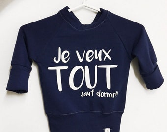 Grow with me top '' je veux tout sauf dormir... '' MADE ENTIRELY in MONTREAL!