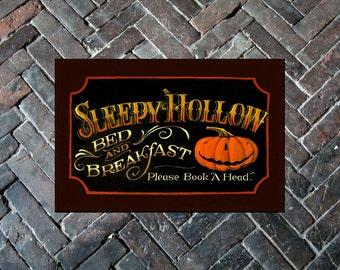 """Sleepy Hollow Door Mat 24"""" x 36"""" - Halloween"""