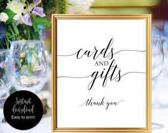 Cards And Gifts Sign Printable, Cards And Gifts Wedding Sign, Cards And Gifts Sign Wedding, Cards And Gifts Thank You Sign, Card Gift Sign