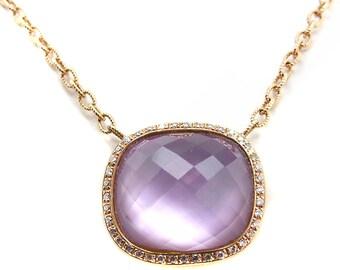 Amethyst pendant .