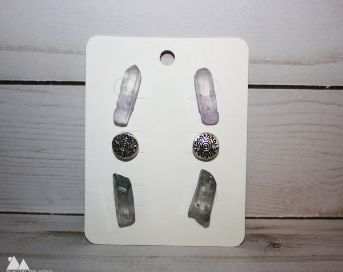 Set of Crystal Earrings