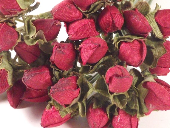 Silk flower buds red dried look crafts weddings corsages dolls silk flower buds red dried look crafts weddings corsages dolls fascinators flower crowns 3 bunches 36 individual stems from mycottageheart on etsy studio mightylinksfo