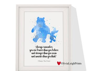 Disney Winnie The Pooh art print Instant Download