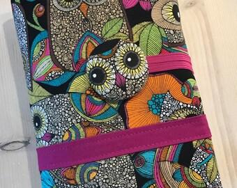 Crochet Hook Case Clutch Organizer Owls, Made to Order