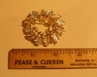 Sarah Cov Oak Leaf Wreath Brooch(513)