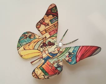 Beauty and the beast wall decal inspired 3d butterfly wall decals Mothers day gift
