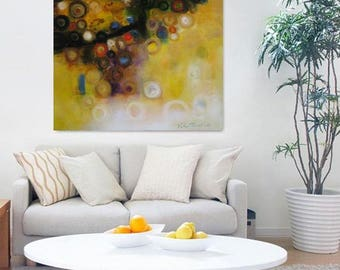 """moutarde jaune noir, tirage d'art mon origine 12 x 12"""" à 30"""" x 30» audacieux et lumineux imprimer reproduction décoration murale, moutarde jaune art"""