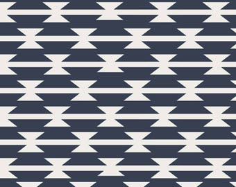 Arizona by April Rhodes from Art Gallery Fabric-Tomahawk Stripe-Modern,Navy