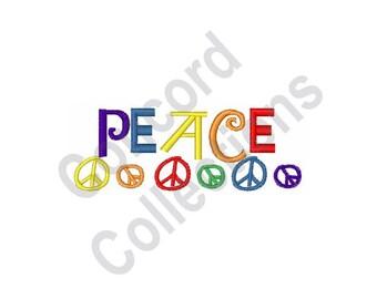 Peace - Machine Embroidery Design